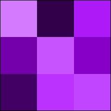 Quelles sont les deux couleurs qu'il faut mélanger ensemble pour obtenir du violet ?