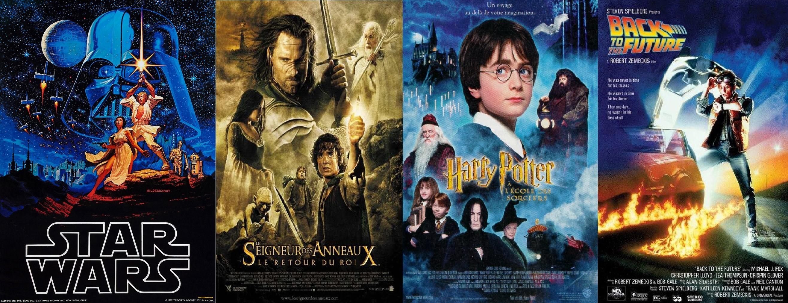 Star Wars, Le Seigneur des Anneaux, Harry Potter ou Retour vers le futur