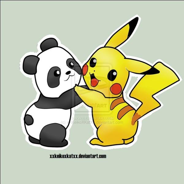 Les petits panda naissent de quelle couleur ?