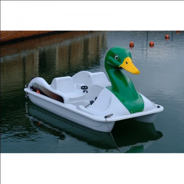 Quel est l'autre nom de ce bateau à pédales ?