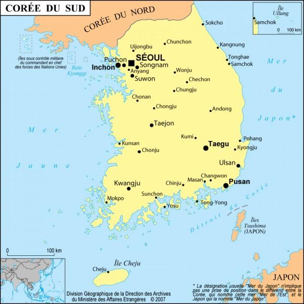 Quelle est la capitale de la Corée du Sud ?