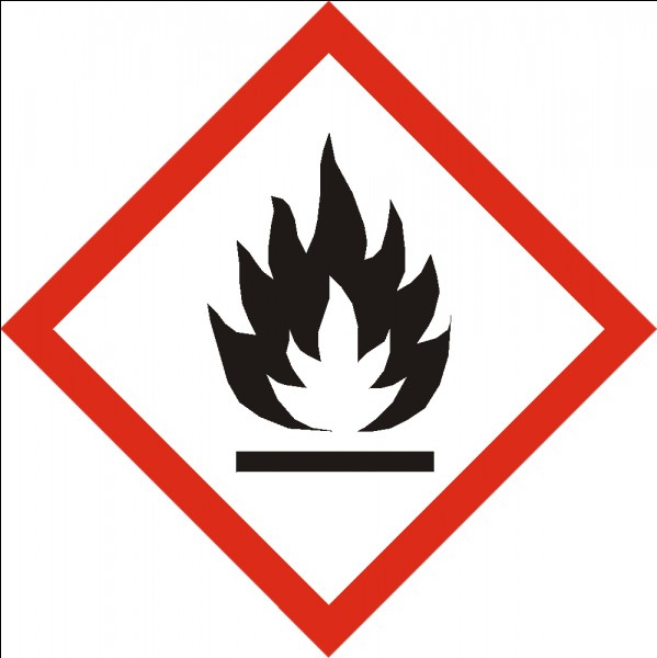 Une flamme dessinée sur un produit ménager signifie que le produit résiste à l'humidité.