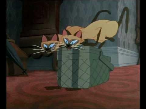 """Quel est le nom de chacun de ces deux chats dans """"La Belle et le clochard"""" ?"""