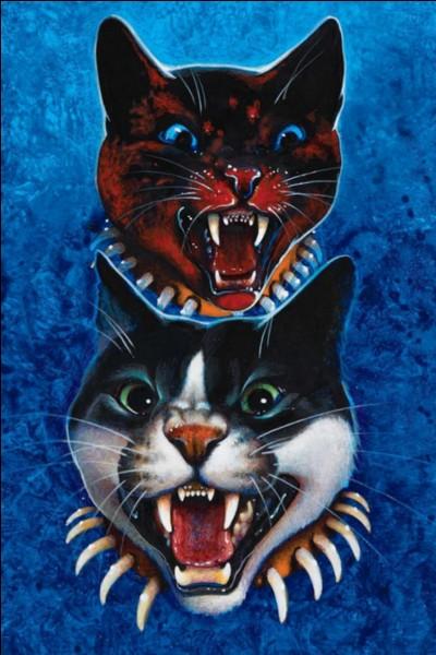 Avec quoi les colliers que portent les chats dirigés par Fléau sont-ils faits ?