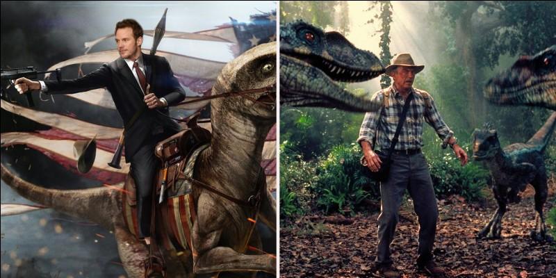 Par quel moyen de transport le T-Rex mâle fut-il amené avec son petit sur le continent ?