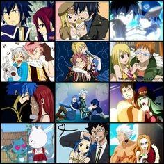 Quel couple aimerais-tu le plus voir dans Fairy Tail ?