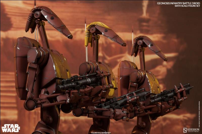 Combien de droïdes de combat ont été déployés lors de la bataille de Géonosis ?