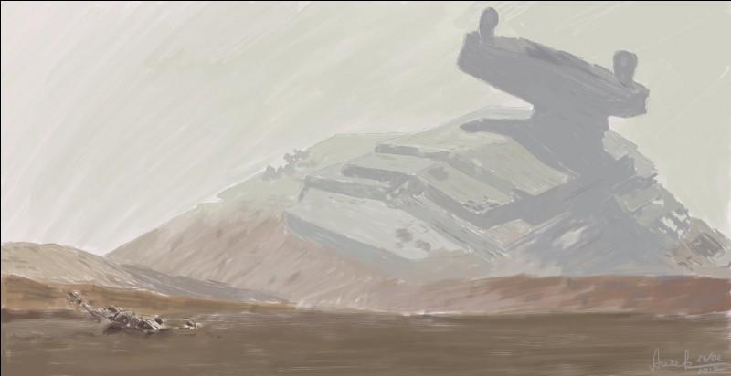 Dans quel destroyer stellaire se trouve Rey quand on la voit pour la première fois ?