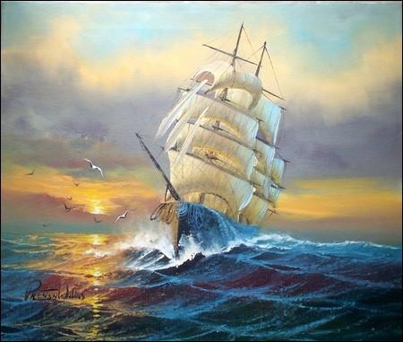 Le bateau augmente sa vitesse. Que prend-il ?