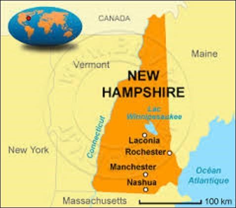 Situé au nord-est dans la région de la Nouvelle-Angleterre, le New Hampshire est bordé au nord par le Québec, à l'est par le Maine et l'océan Atlantique, au sud par le Massachusetts, et à l'ouest par le Vermont dont le fleuve Connecticut lui sert de frontière. Peuplés de 1 316 470 âmes, sa superficie est de 24 239 km². Rejoignant l'Union le 21 juin 1788, quelle est sa capitale depuis 1808 ?