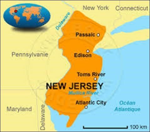 Troisième État à rejoindre l'Union le 18 décembre 1887, le New Jersey est situé au nord-est des États-Unis. Bordé à l'Ouest par la Pennsylvanie et le Delaware, au nord par l'État de New York, dont les banlieues ouest et sud de cette ville sont comprises dans son territoire, et au sud-est par l'océan Atlantique, il a pour capitale depuis le 25 novembre 1790 la ville de ...