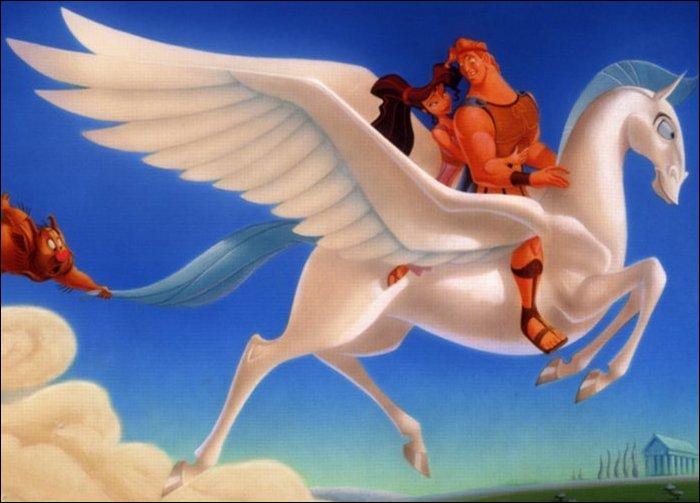 Comment le cheval ailé d'Hercule s'appelle-t-il ?