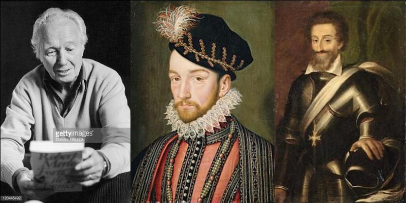 Là, on parle d'une saga familiale qui débute peu avant la mort du roi François 1e pour finir au début du règne personnel de Louis XIV. Elle met en scène, la famille (imaginaire) des Siorac, au sein de l'histoire de France. Les guerres de religion forment le début de cette œuvre magistrale.Quel est cette saga ?