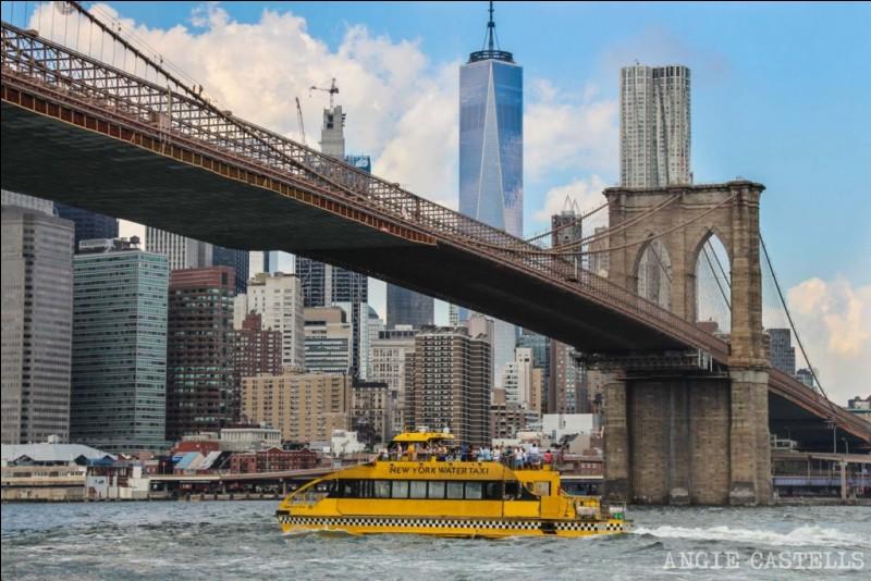 Chapeau à l'architecte qui, il y a 150 ans, a eu la brillante idée d'intégrer au pont cette singulière promenade pour les piétons. Il y a quelque chose de grandiose à rouler sur ce pont : il est massif avec ses piliers à double arcade et ses câbles imposants. Êtes-vous en mesure de l'identifier, parmi ses 3 choix ?