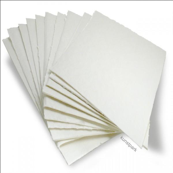 Quel est le composant principal du papier ?
