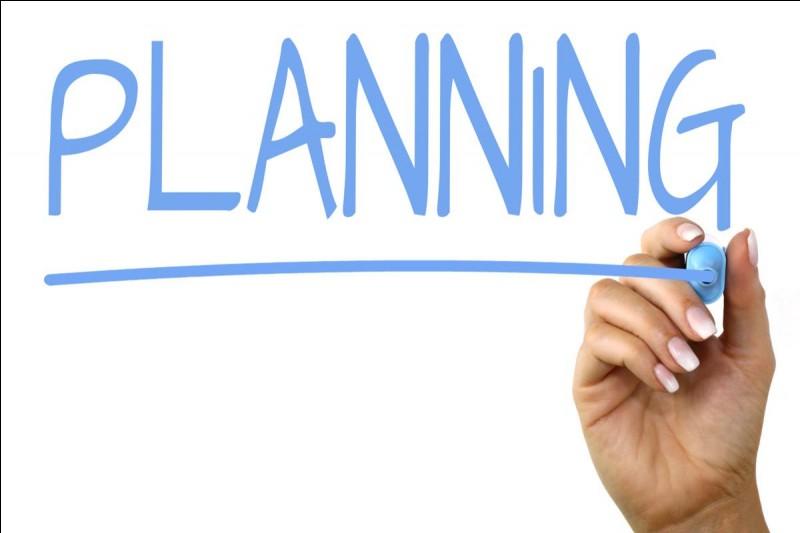 Ton planning est plutôt...