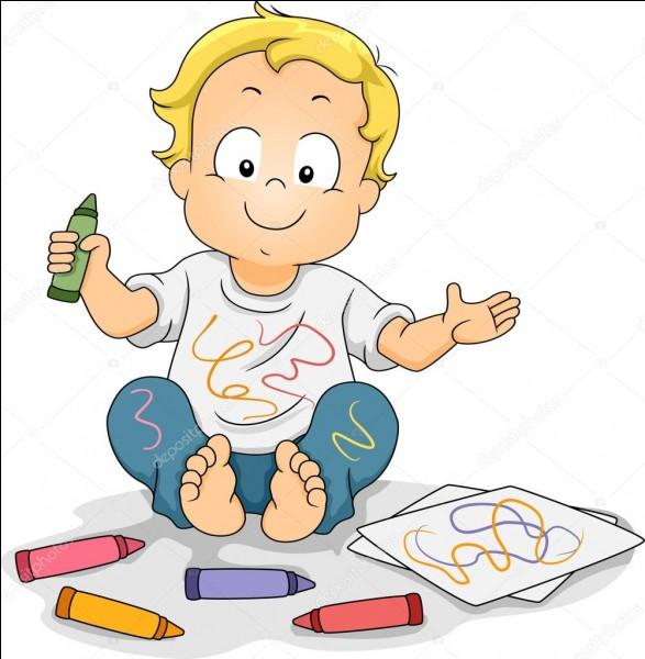 Vous demandez à Kevin de ranger sa chambre mais il a dessiné partout sur les murs de sa chambre. Qu'allez-vous lui dire ?
