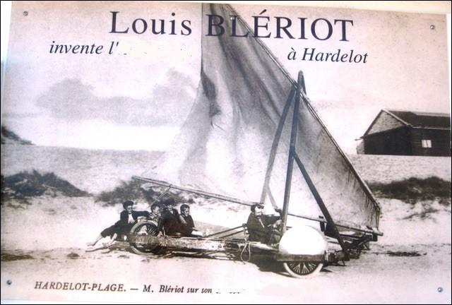 Quel nom Louis Blériot a-t-il donné au char à voile qu'il a construit ?