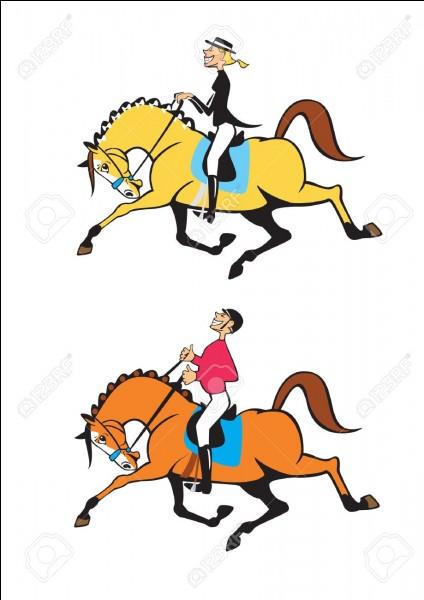 """Dans un tournoi, deux cavaliers sont ex æquo. Pour les départager le roi leur dit : """"Celui dont le cheval arrivera le premier à cette tour perdra !"""" Les 2 cavaliers se précipitent aux écuries, enfourchent un cheval et se dirigent vers la tour. Comment l'expliquer ?"""