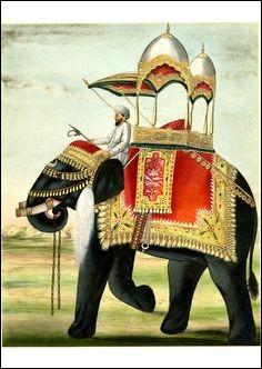 Comment se déplaçaient des anciens rois de l'Inde ?