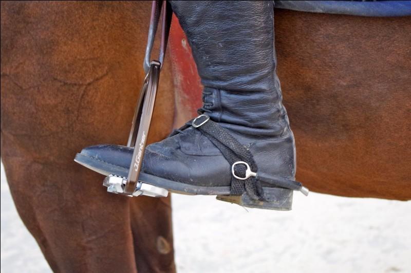 Comment appelle-t-on l'objet métallique dans lequel un cavalier met son pied ?