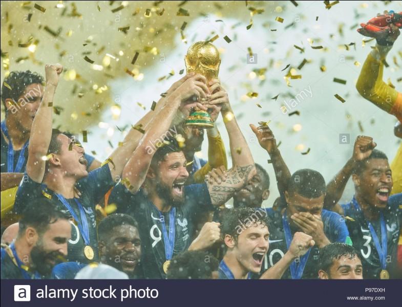 Quel est le score de la finale lors de laquelle les joueurs deviennent champions du monde ?