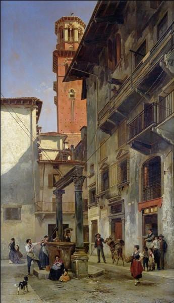 Nous allons à présent entrer dans le vif du sujet : le centre historique de Vérone. À l'arrière-plan de Via Mazzanti s'élève une tour médiévale du nom de...