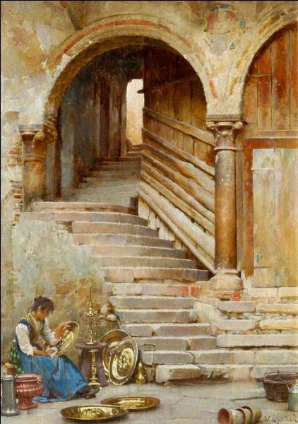 Voici une cour véronaise où Roméo et Juliette auraient pu se rencontrer, sauf qu'un élément essentiel y manque...