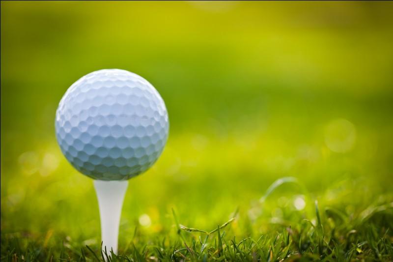 Comment appelle-t-on le support qui sert à surélever la balle au golf ?
