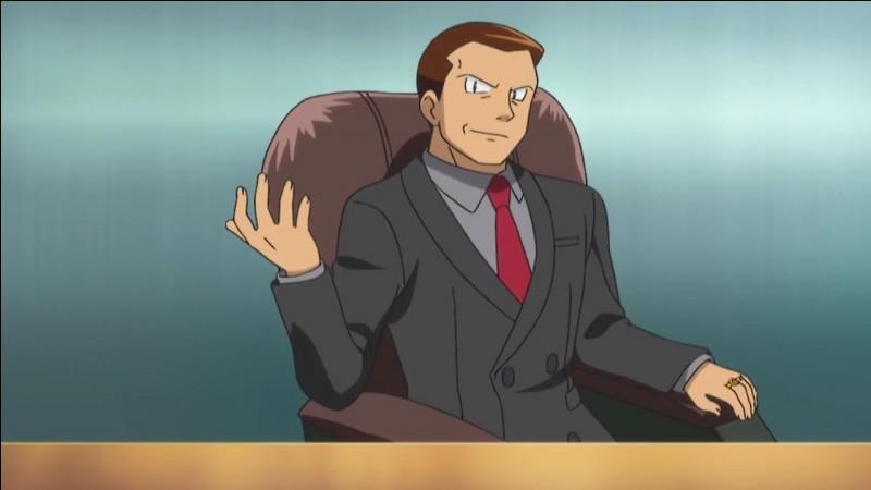 Comment s'appelle le boss de l'organisation apparue à Kanto ?