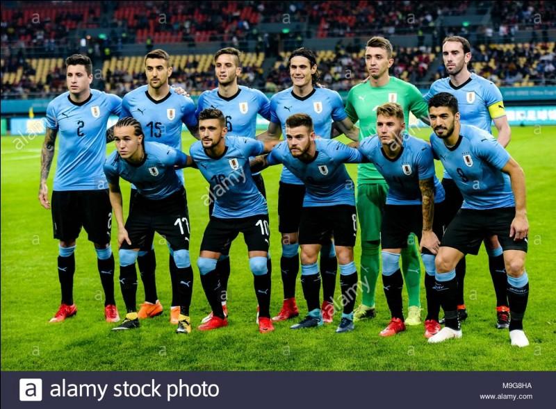 Combien d'étoiles figurent sur le maillot de l'Uruguay ?