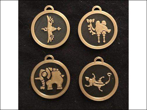 Comment s'appellent les quatre créatures divines ?