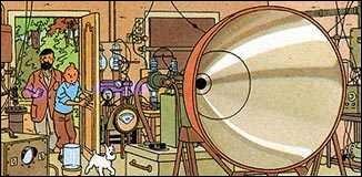 Dans quel album Tintin et le capitaine Haddock tombent-ils sur cette machine à ultrasons, pouvant briser la glace ?