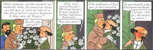 Dans quel album le professeur Tournesol nomme-t-il des roses en l'honneur de Bianca Castafiore ?