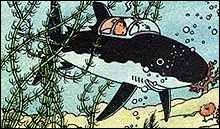 Et enfin, dans quel album Tintin plonge-t-il au fond de l'océan grâce à une invention du professeur Tournesol ?
