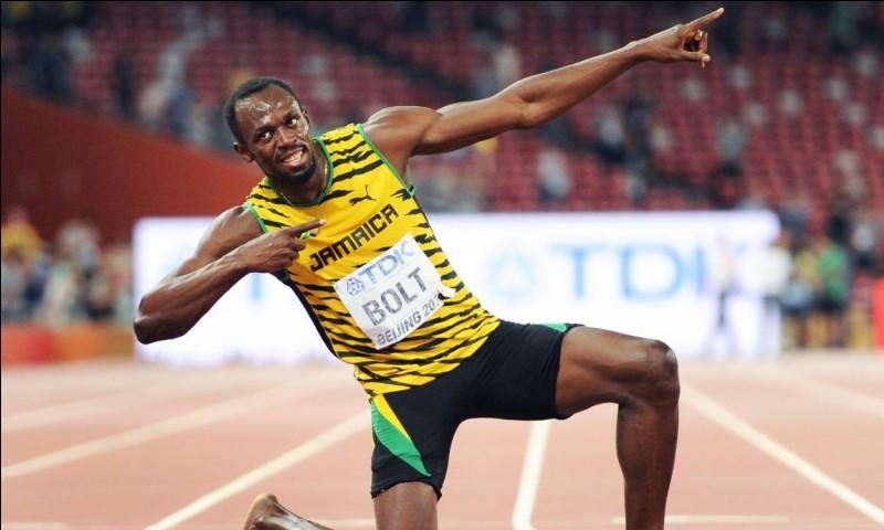 Usain Bolt fait (2 réponses possibles)...