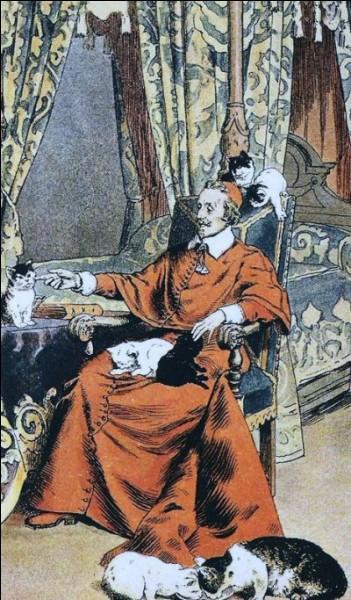Gazette, Perruque, Soumise, Racan, Felimare, Serpolet ! Ce sont les noms de quelques chats de Richelieu. L'un d'eux, noir comme le charbon, porte un nom inattendu pour un chat de cardinal. Lequel ?