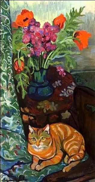 Cette artiste peintre française, la mère du peintre Maurice Utrillo, a réalisé cette huile sur toile de son chat Raminou en 1919. Qui est-elle ?