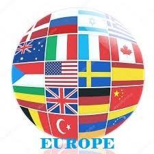 Les drapeaux des pays (Europe)