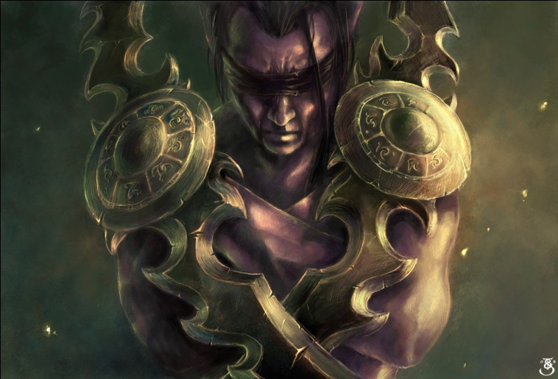 Quelle est la race disponible à partir de l'extension Légion, disponible pour les elfes de la nuit et elfes de sang, et qui a pour leader Illidan Hurlorage ?