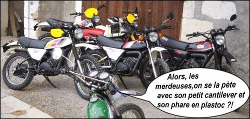 Yamaha a inventé le système de suspension de type cantilever.