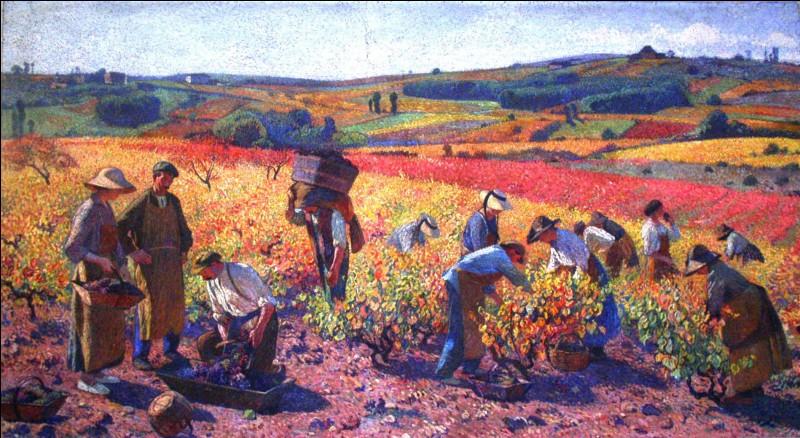 Que représente ce tableau d'Henri Martin ?