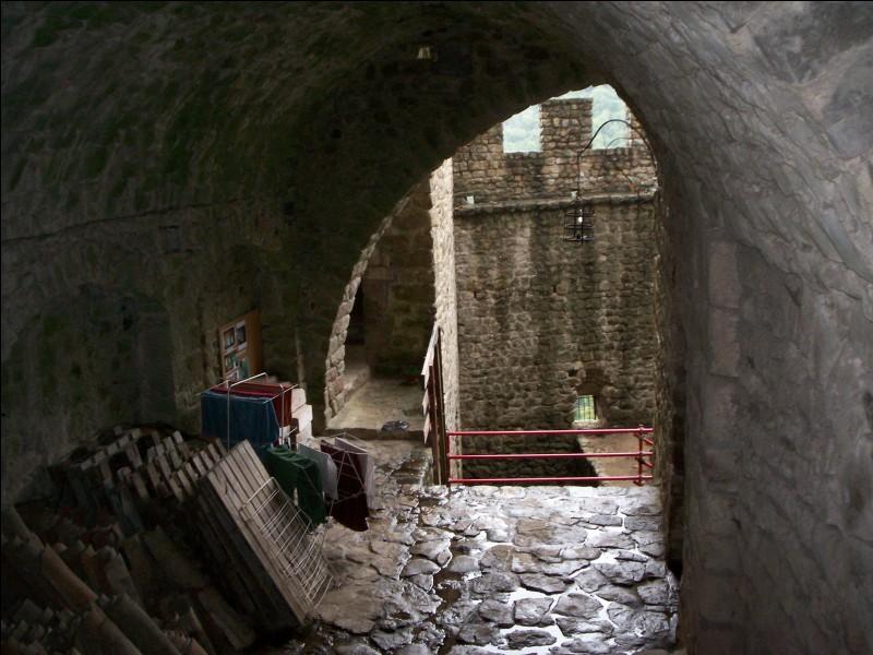 Lors du dégagement des ruines du château, il ne subsistait que...
