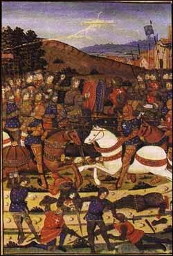 En 1195, le fief de Meyras (peut-être le château est-il déjà construit) passe des Solignac aux Montlaur. À quelle occasion ?