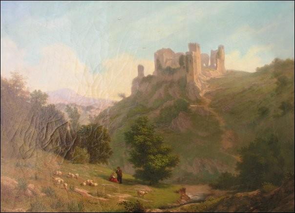 Selon l'interprétation de tableaux et gravures du 19e siècle, la chute de la deuxième échauguette est estimée...