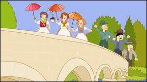 """Complétez le refrain de cette célèbre chanson enfantine : """"Sur le pont d'Avignon/ On y danse, on y danse/ Sur le pont d'Avignon/ On y..."""
