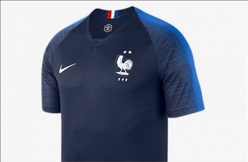 Par quelle marque a été créé le maillot officiel français ?