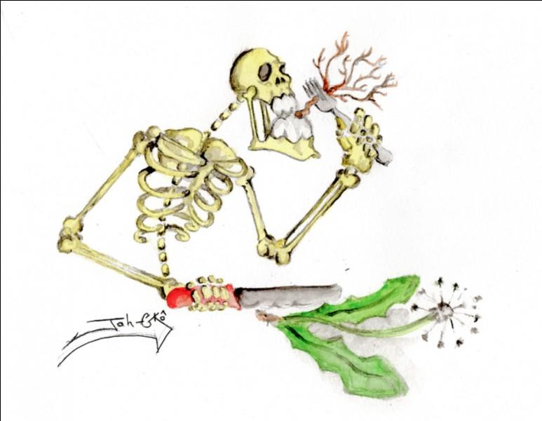 Quand on est mort que mange-t-on par la racine ?