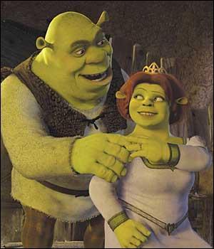 Avant de retourner dans leur maison, qu'ont fait Shrek et Fiona au début de Shrek 2 ?