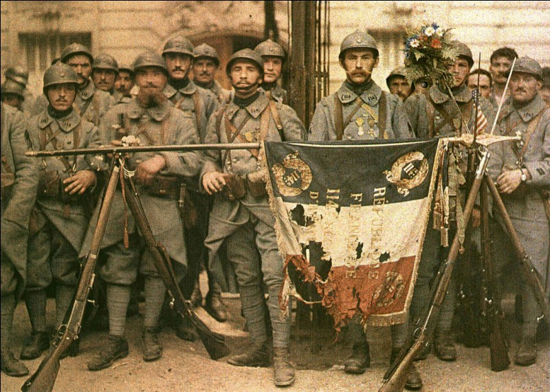 """Les soldats de la Première Guerre mondiale sont appelés les """"poilus""""."""